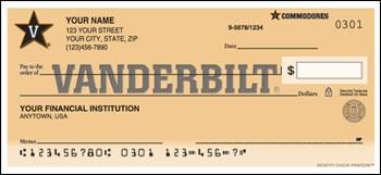Vanderbilt University Personal Checks