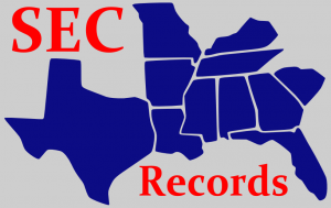 SEC Football Records
